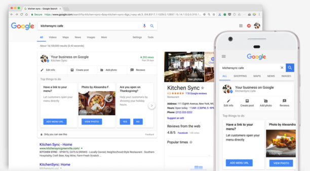 Google My Business - Référencement local